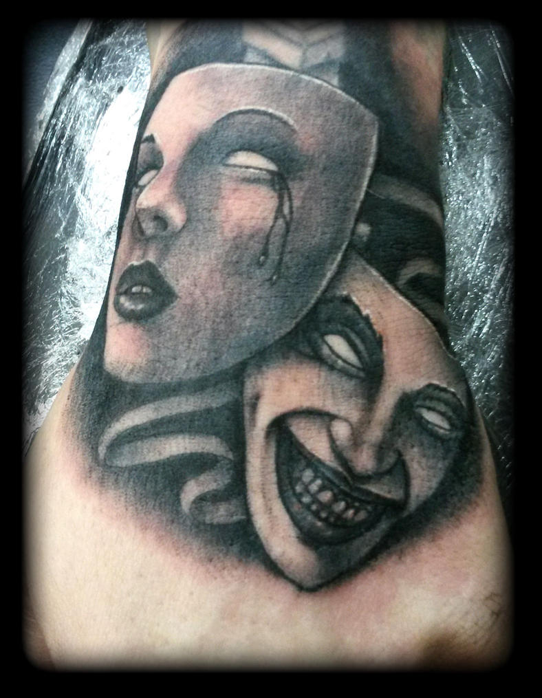 Theatre masks by state-of-art-tattoo