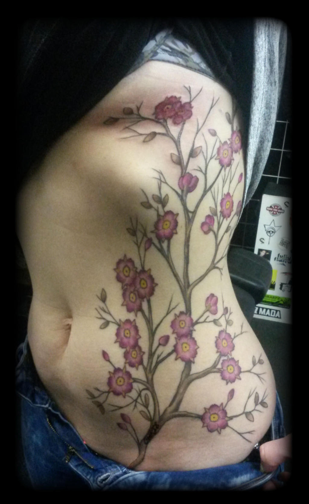 Cherry blossom tree by state of art tattoo on deviantart for State of the art tattoo