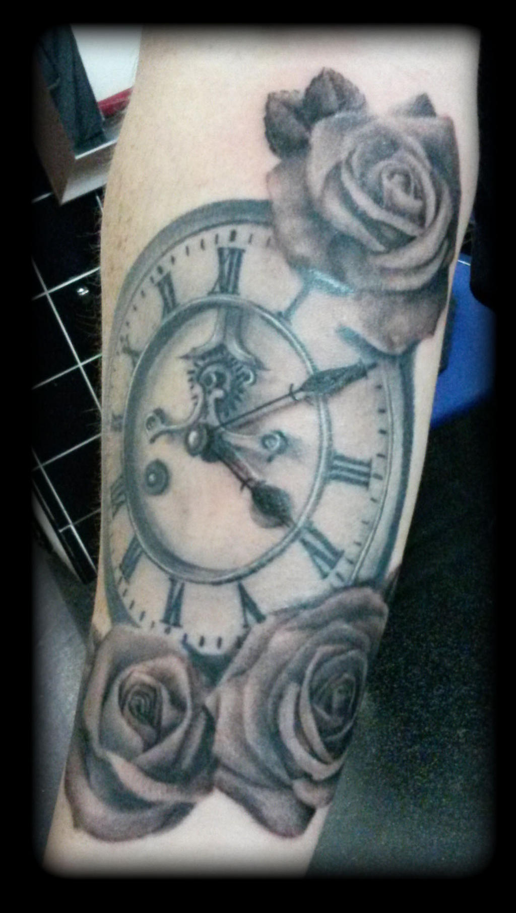 Clock by state-of-art-tattoo