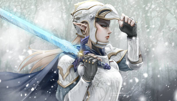 Armored Zelda - snow