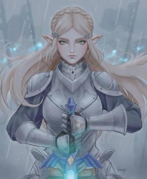 Armored Zelda - Rain