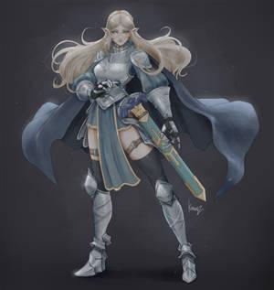Armored Zelda - Stand