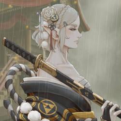 Zelda Samurai - Rain