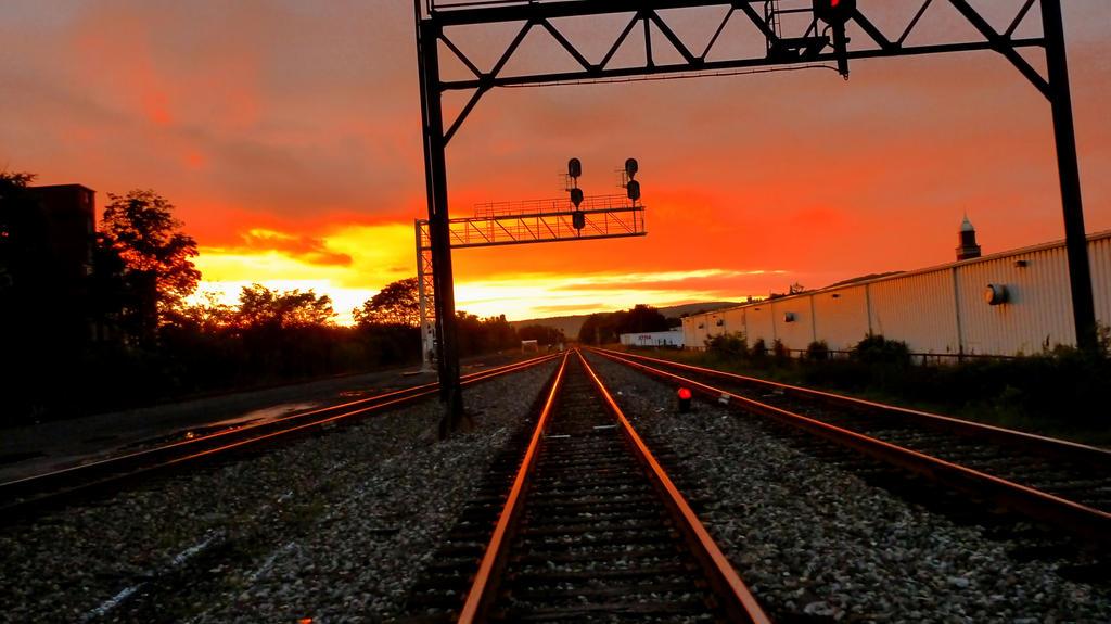 train tracks and orange1 - photo #3