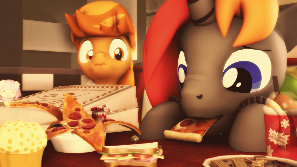 (Sfm challenge) Pizza loving by D3athbox