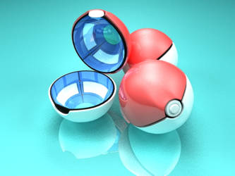 Ready to animate Pokeball by Henrique3DArt