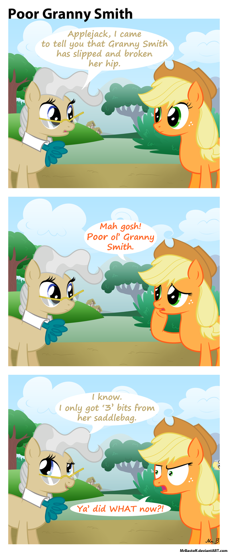 Poor Granny Smith by MrBastoff