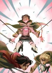 Attack on Titan by QueenOfTheAntz