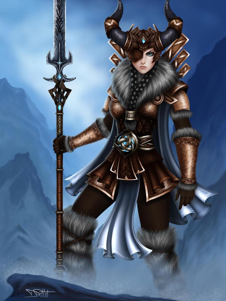 SMITE - Odin - Female Version by A--Nonyme on DeviantArt