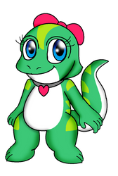 Greta the gecko by Scarlet-Magus714