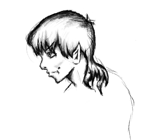 Long Haired Vulcan with Mole by tessmonsta