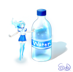 Water Bottle by ScarletDestiney