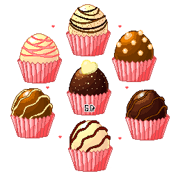 Pixel Truffle Set 1 by Vocaloid-Mirai