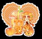 Peach Bubble Tea