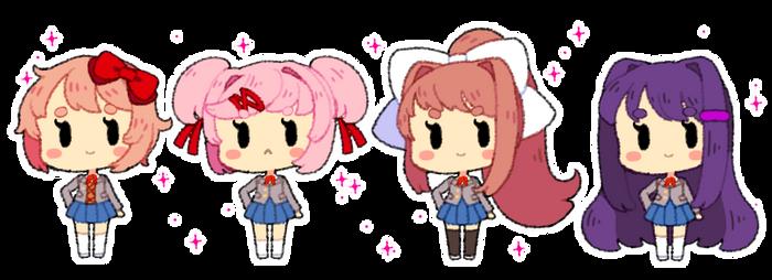 DDLC Bubblegum Page Dolls (F2U)