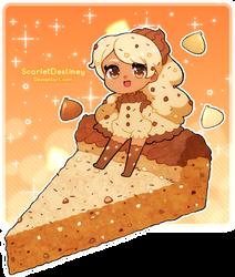 Triple Choco Chip Cookie Cake by ScarletDestiney