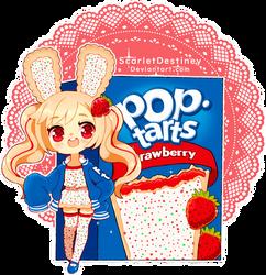 Poptart Bun-Buns: Frosted Strawberry by ScarletDestiney