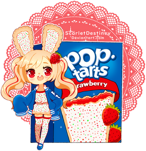 Poptart Bun-Buns: Frosted Strawberry