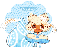 Hershey Kissu! Cookie N Cream by ScarletDestiney