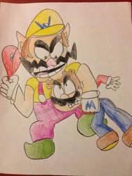 Mario and Wario by NatemanDeadman94