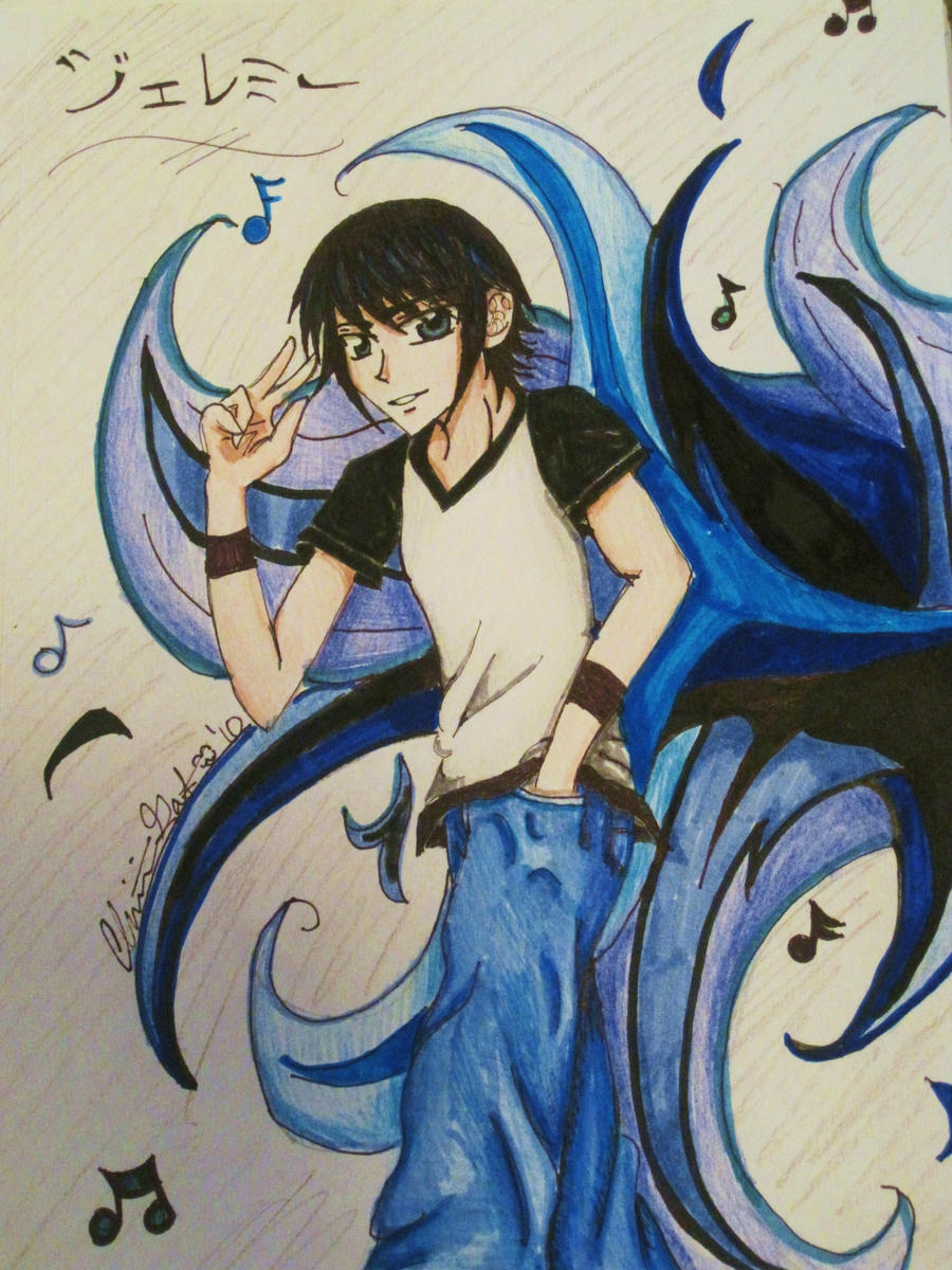 Music Lover Anime Boy By Broken With Roses