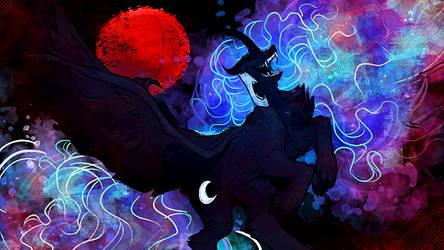 Nightmare Moon Poofymane Version by GREYFLESH