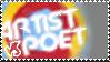 Artist vs. Poet STAMP by truckthewolf