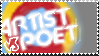 Artist vs. Poet STAMP by truckthewolf