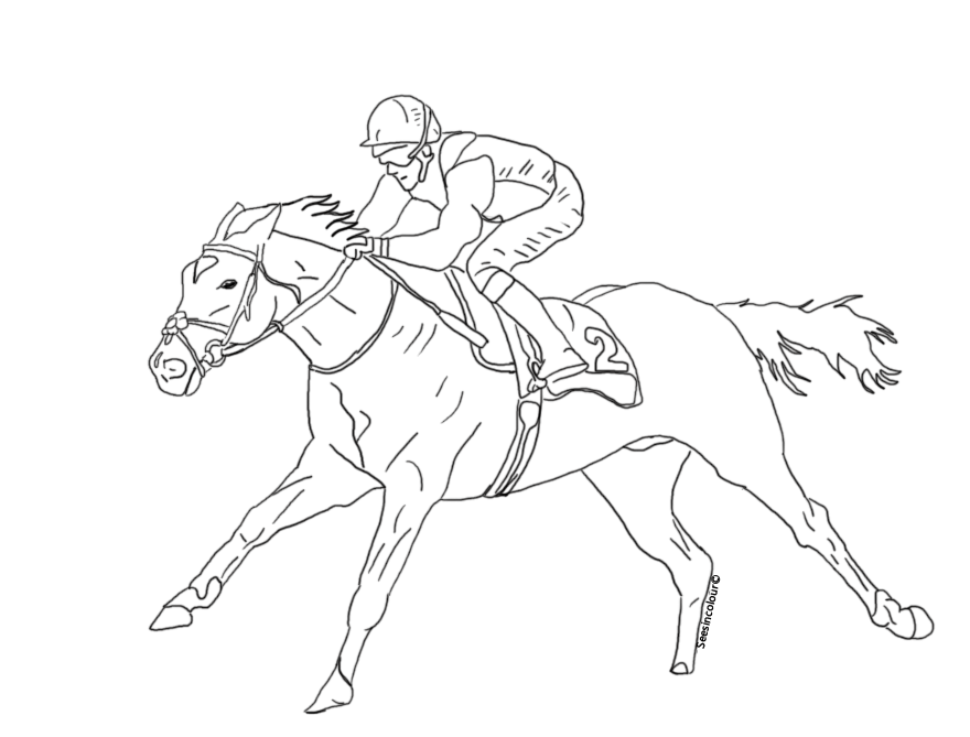 thoroughbred coloring pages - photo#22