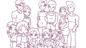 Group Practice--Brief family :) (+my OCs lol)