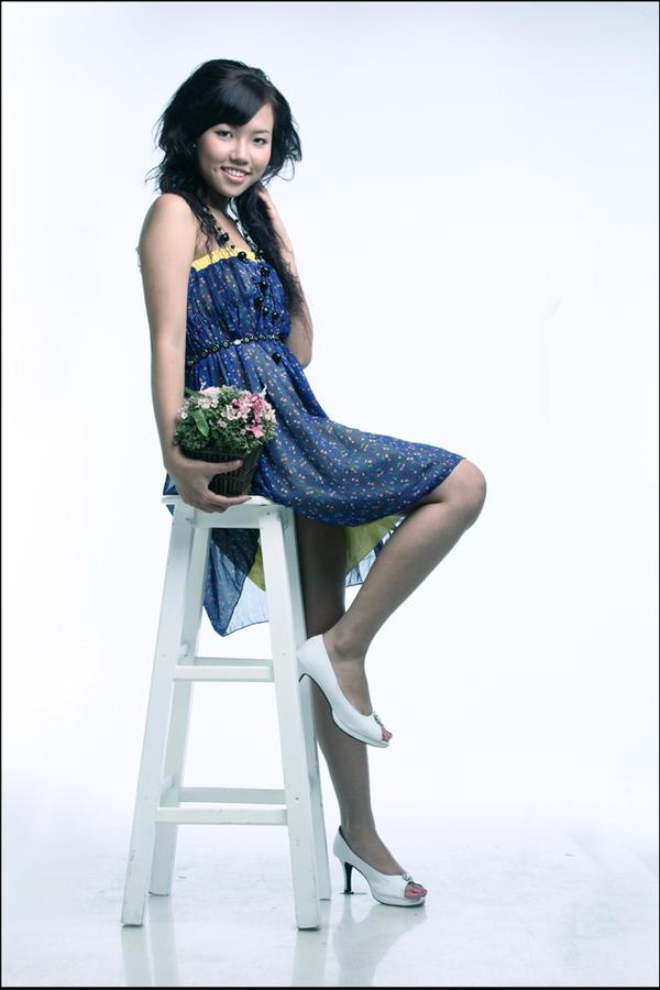 violet dress by nheonheo