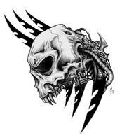 bio-mechanic skull by CRAZYGRAFIX