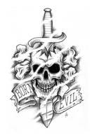 evil skull by CRAZYGRAFIX