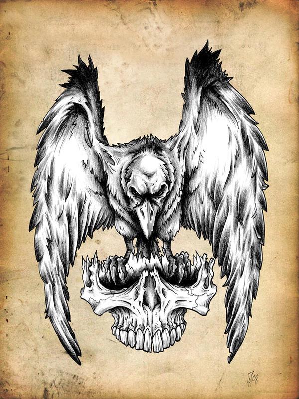Raven design for Ravens face tattoos