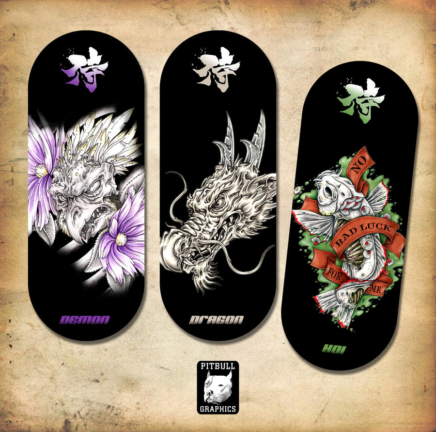 JAPANESE BOARD DESIGNS by CRAZYGRAFIX