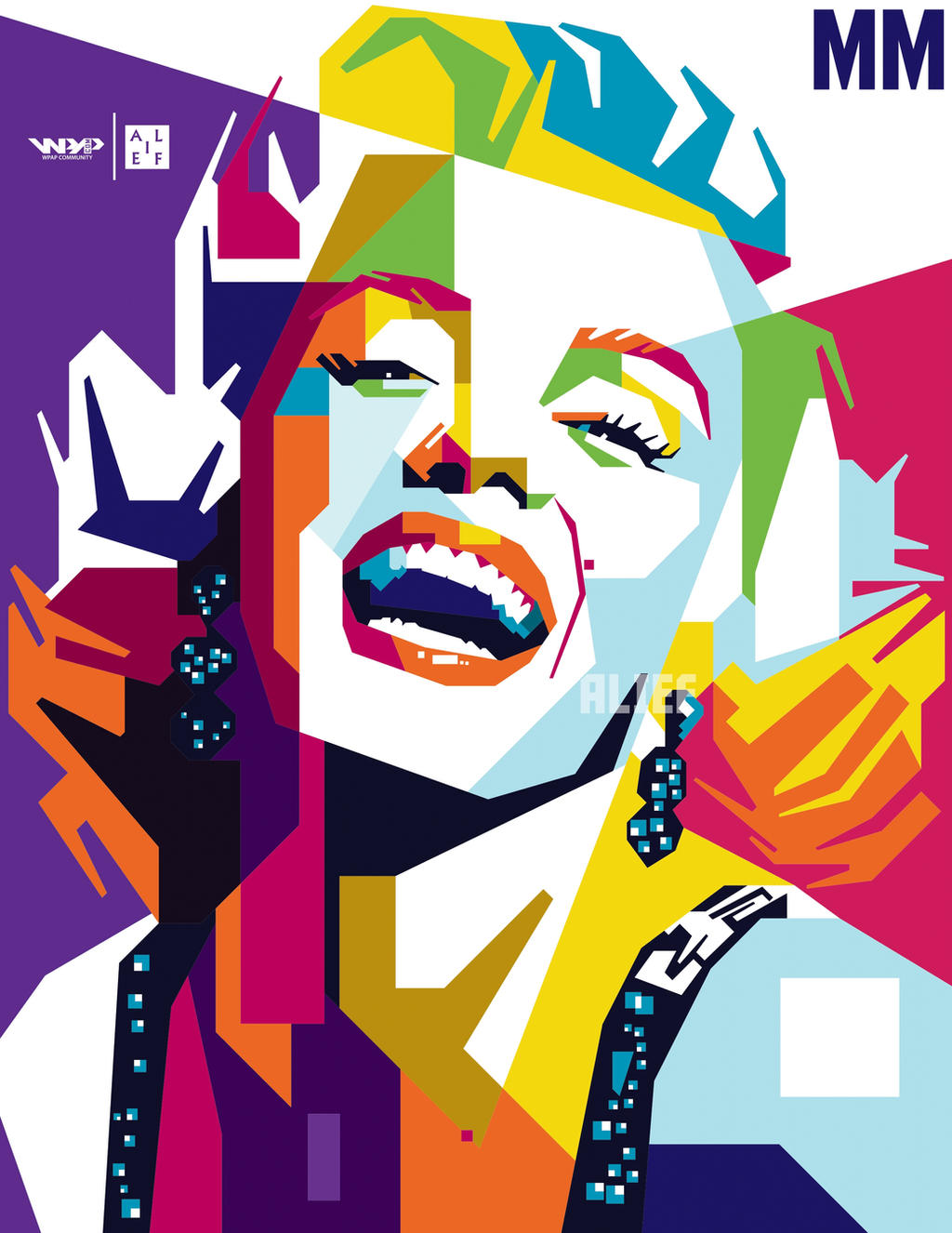 Marilyn Monroe Pop Art Wallpaper