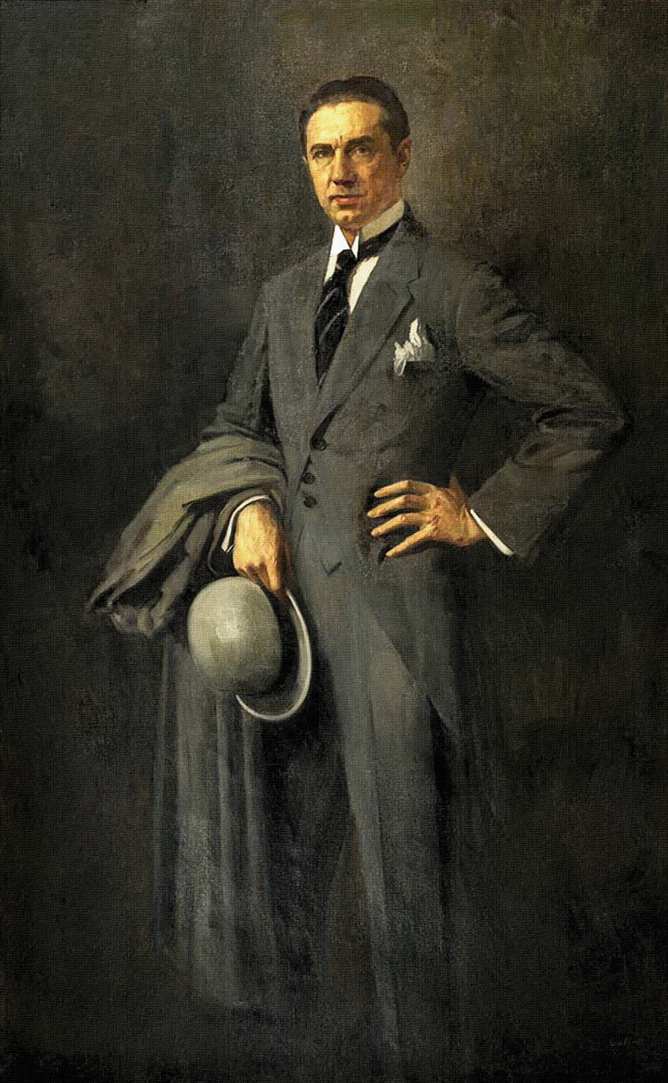 Bela Lugosi - painted portrait by DarkSaxeBleu