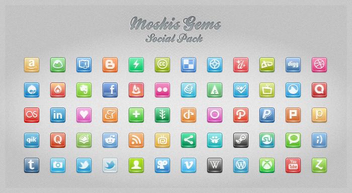 Moskis Gems Social pack 1