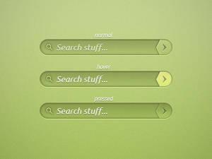 Green Search Bar PSD