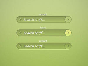 Green Search Bar PSD
