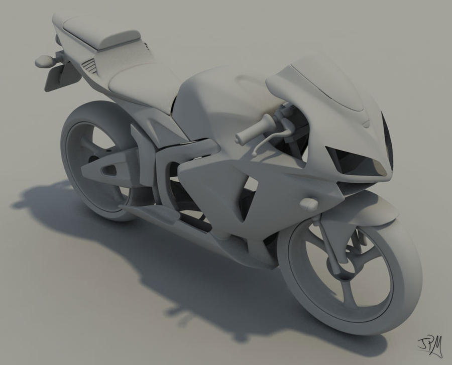 CBR600 '05 WiP - Clay model by Th3-ProphetMan