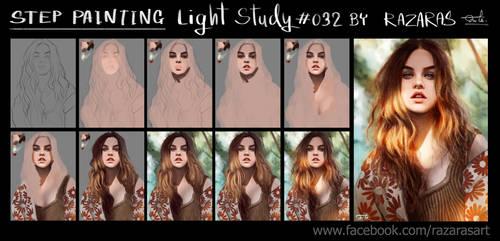 Step painting Light Study #032 Babara Palvin