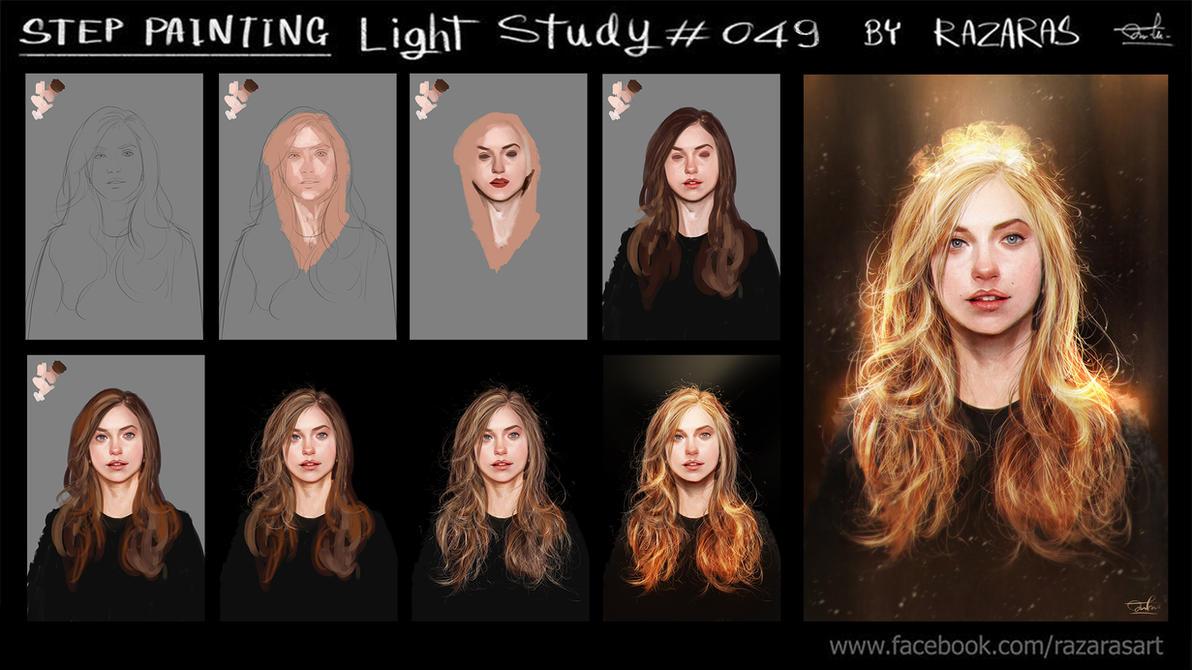 Steps Painting Light Study#049 by Razaras