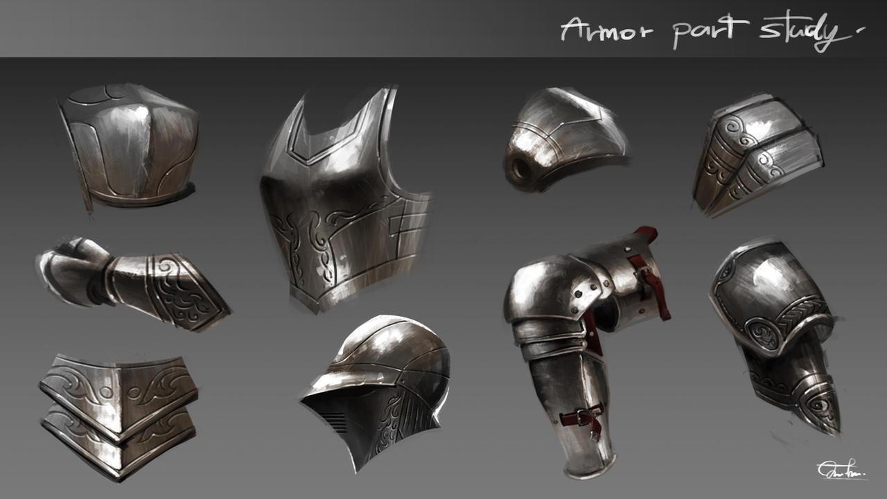 Armor Part Study by Razaras