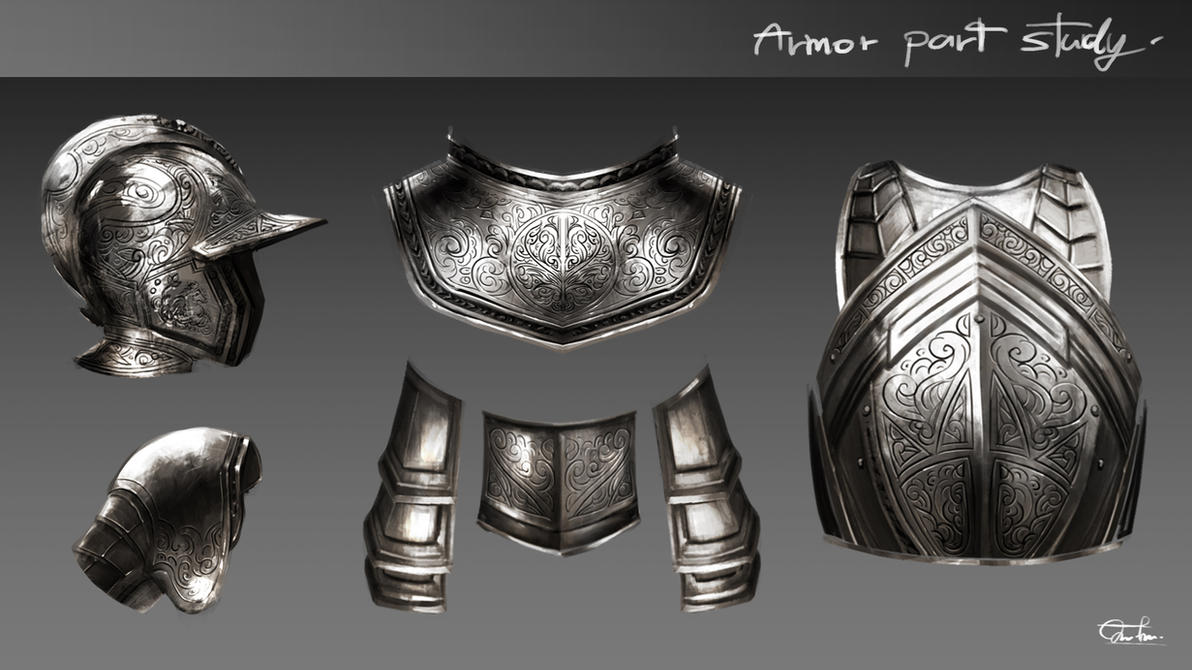 Armor Parts Study#002 by Razaras