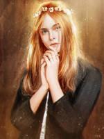 Light Study#051 Elle Fanning's Portrait by Razaras