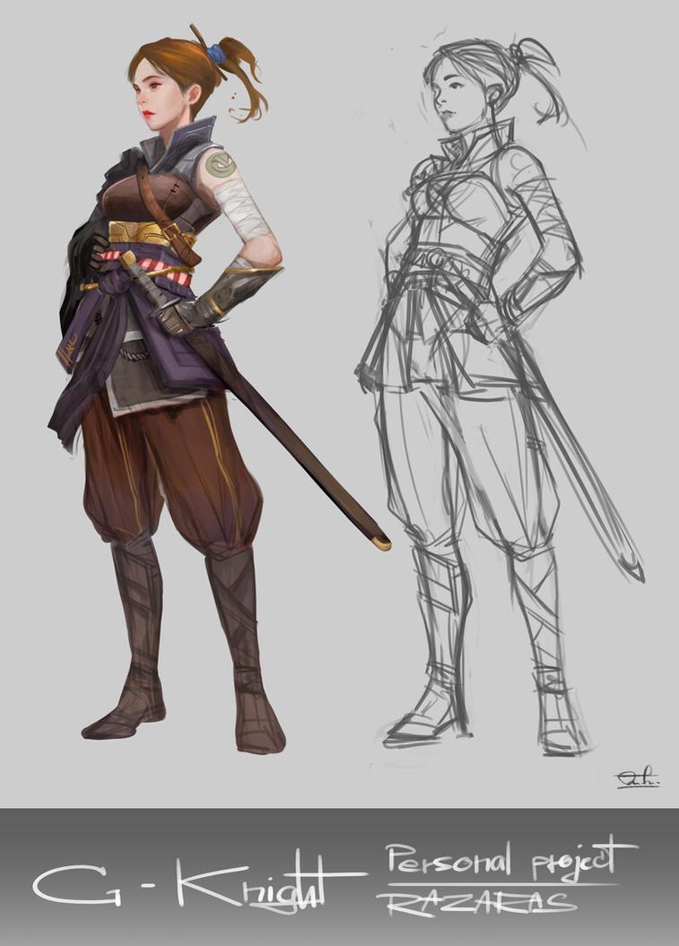 Personal Project G-Knight by Razaras