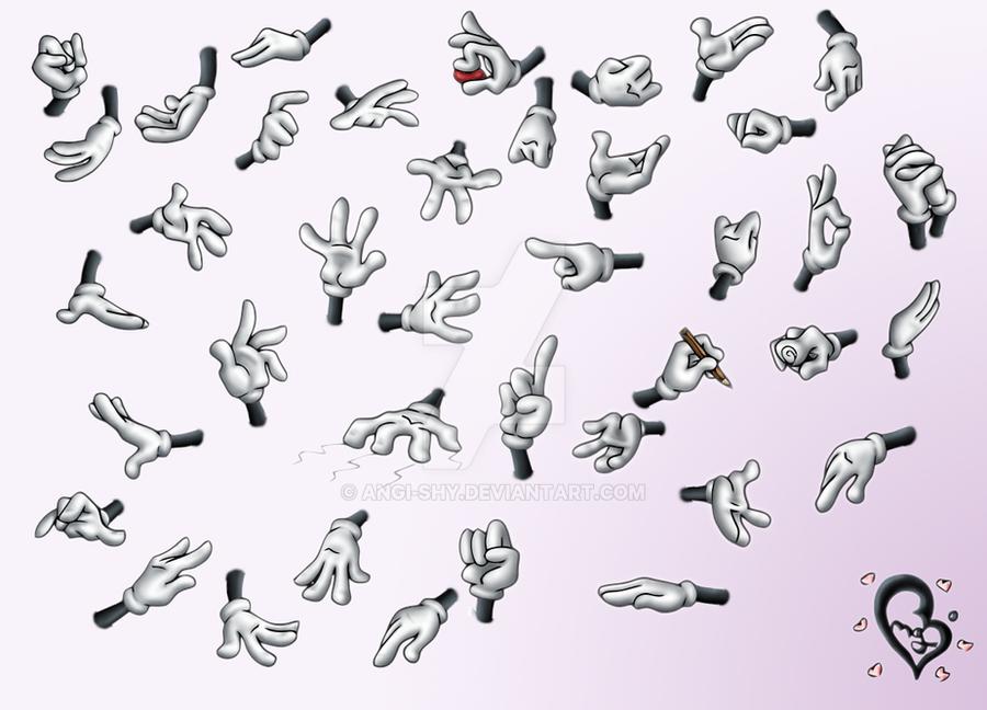 Cartoon hand poses by Angi-Shy