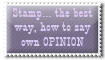 An opinion - stamp by Angi-Shy