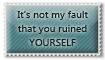 Not my fault - stamp by Angi-Shy
